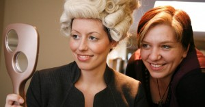 Jackie Sweeney of Wigs Up North (right)