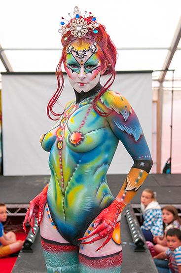 2nd place Artiste Elissa Barrett - Model Isla Ure