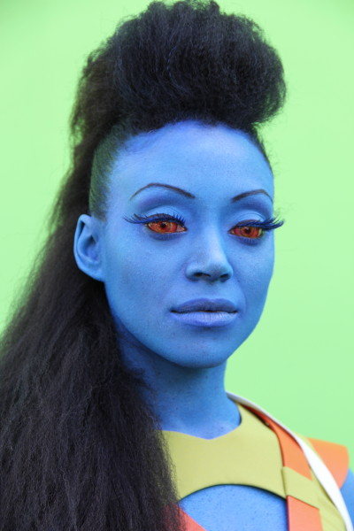 The character Ti'Asha played by Samara Dixon, make up by Lizzie and her team