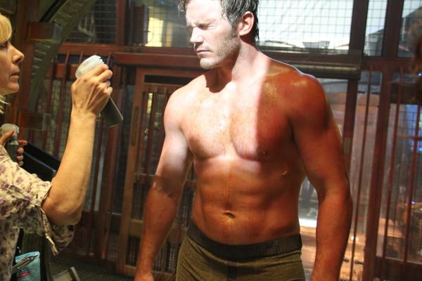 Chris Pratt with Debbi Salmon (makeup )