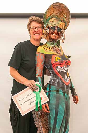 The Living Art Show - Winner of the most creative innovative styled piece Artist – Angela Youngs. Sponsored By Seventa Image