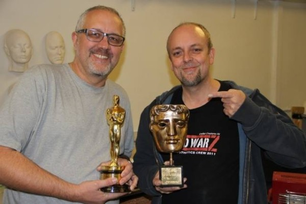 Chris with Mark Coulier