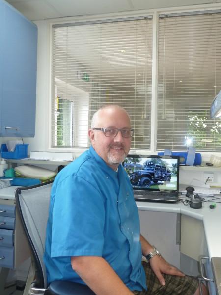 Chris Lyons at work