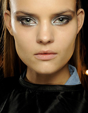 Charlotte Tilbury created this look for Donna Karan's AW14 show - Source