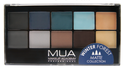 MUA winter forest palette