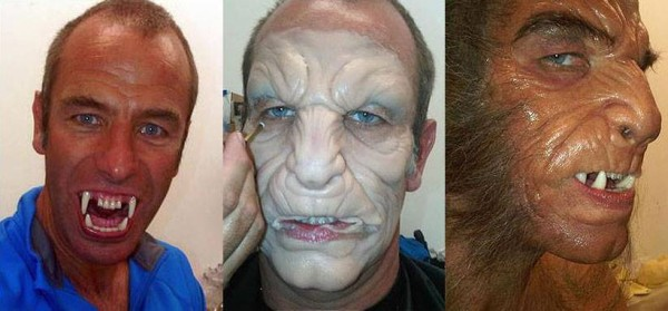 Robson Green from Being Human, make up Marcus Whitney