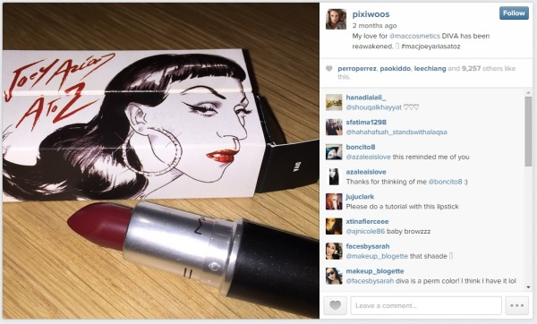 Joey Arias' recent collaboration with MAC (image source) http://instagram.com/pixiwoos