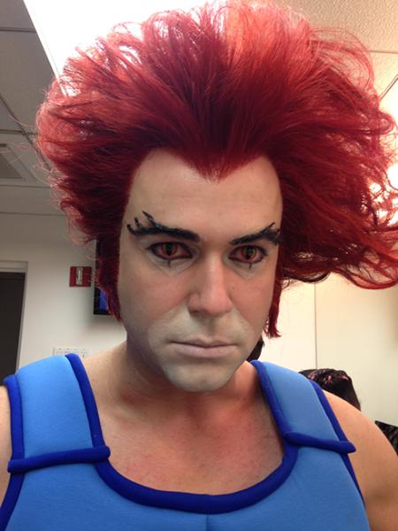 Taran Killam as Lion-O for Saturday Night Live
