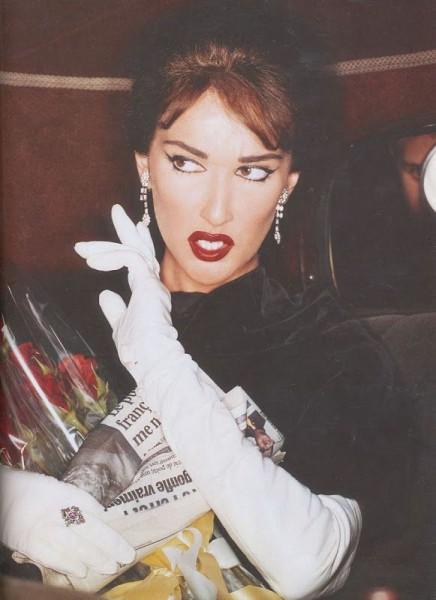 Celine Dion as Maria Callas by Kevyn Aucoin
