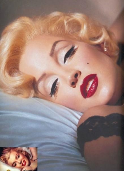 Lisa Marie Presley as Marilyn Monroe by Kevyn Aucoin