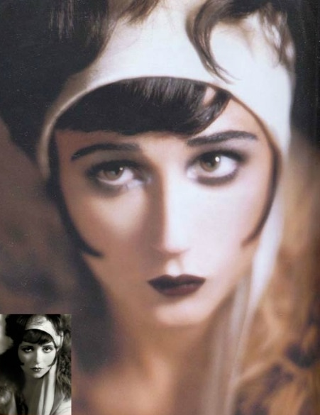 Demi Moore as silent film star Clara Bow by Kevyn Aucoin