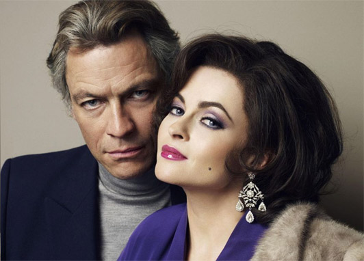 Helena Bonham Cater and Dominic West as Elizabeth Taylor and Richard Burton