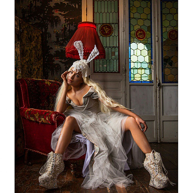 @laurencetroletphotography Directed by @joeybevan Shoes by @joeybevan  Bunnyears @thelivfree  Dress by @beyondburlesque  Makeup @abbirosemakeup  Hair @hair_by_charlie