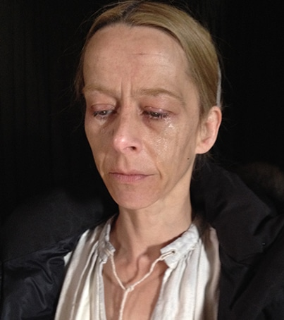 Kate Dickie's character make-up once the 'witchery' has started
