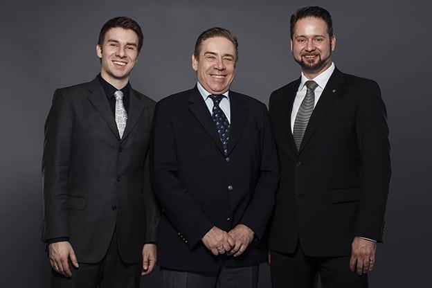 L-R: Dominik, Wolfram and Sebastian Langer