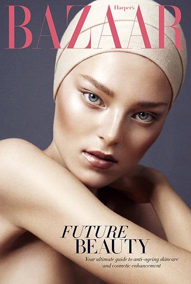 Harper's Bazaar page layout