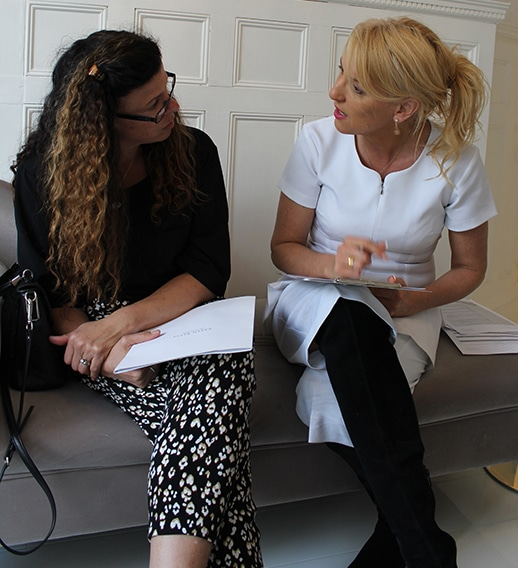 Karen begins all her treatments with an indepth consultation