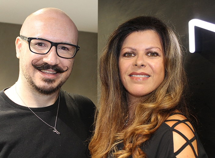 MAC Cosmetics Senior Artist Dominic Skinner with Antoinette
