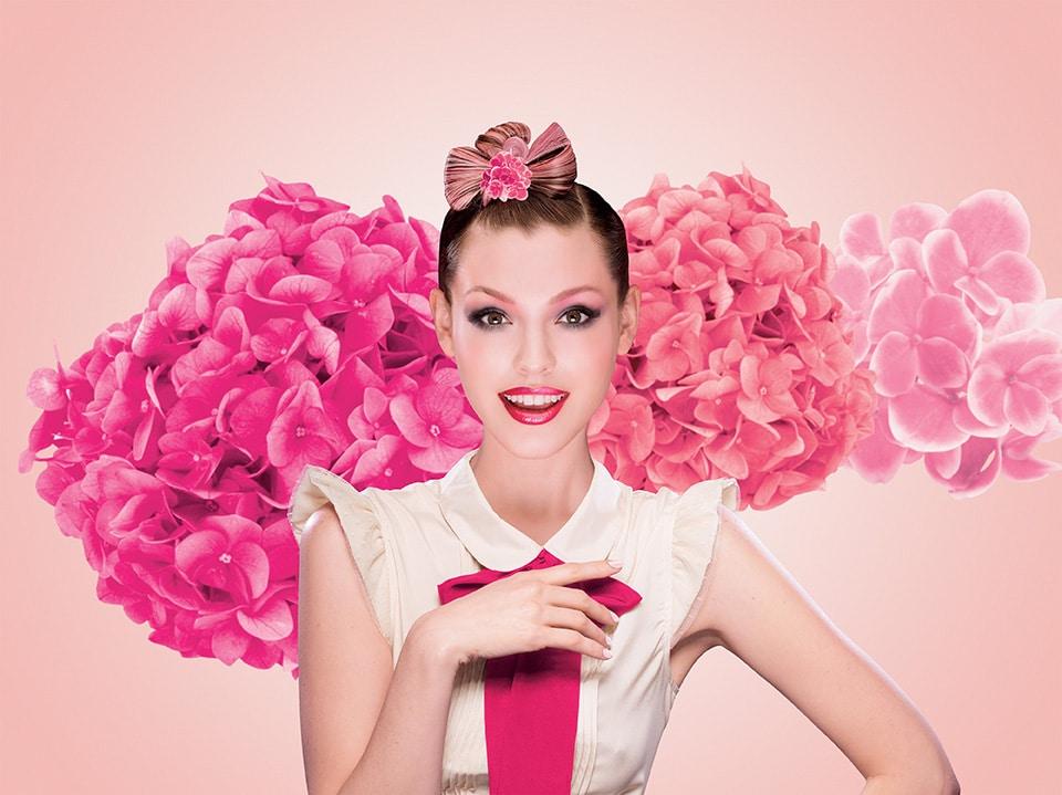 Bourjois pink model