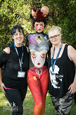 2016 Prof April Hernandez, Apprentice Sarah Patterson, Model Ruby Trix