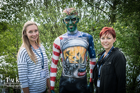 2016 Prof Cheryl Howes, Apprentice Claire Huskisson, Model James Dyble