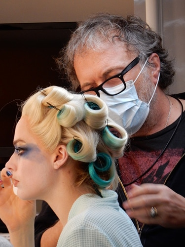 Alessandro Bertolazzi working on Margo Robbie as Harley Quinn