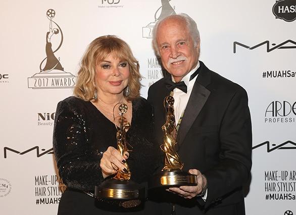 Leonard Englemen and Barbara Lorenz  with their Lifetime Achievement Awards