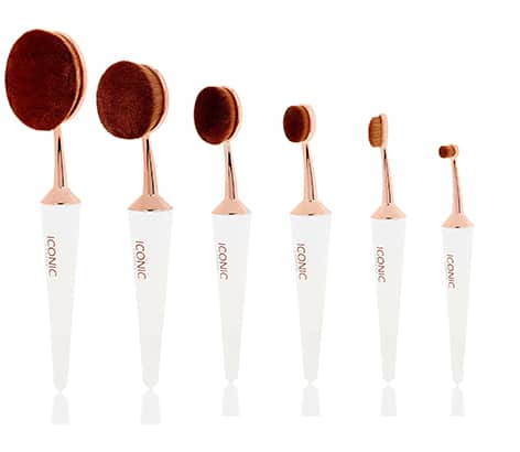 Iconic London EVO Complete Makeup Brush Face Set White, £75 at www.iconi...