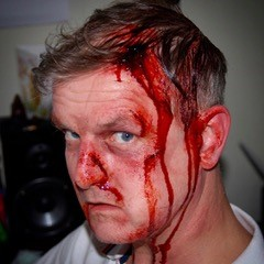 Out of the kit injury makeup for low budget film