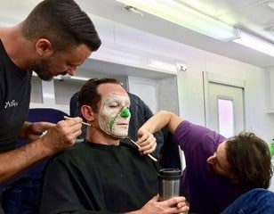 Volmer Reveal makeup - A Cure for Wellness applied with Valter Casotto for BGFX
