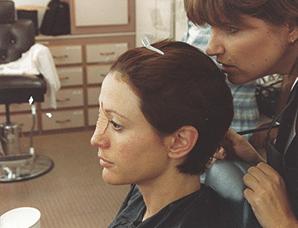 Karen J Westerfield with Nana Visitor in Star Trek: Deep Space Nine