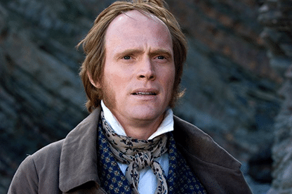 Paul Bettany as Darwin, makeup done by Veronica