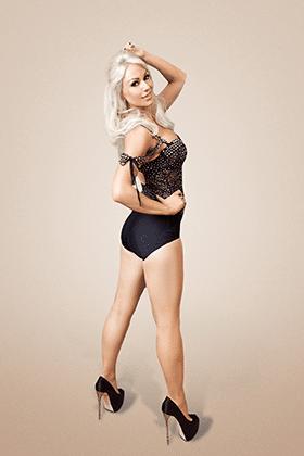 Kristina Rihanoff, black bodysuit